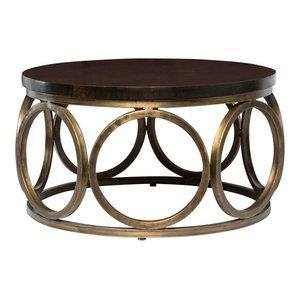 "Gemma 32"" Round Mango Wood Coffee Table by Kosas Home"