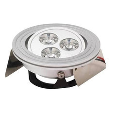 Tiro3 3-Light Directional LED Downlight With Source, Clear Lens Brushed Aluminum