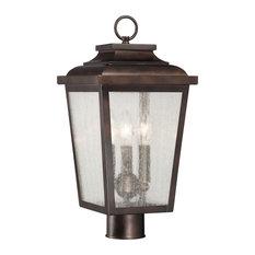 Minka Lavery Irvington Manor 72176-189 3 Light Post Mount, Chelesa Bronze