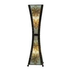 Superior Eangee Home Design   Large Hour Glass Lamp In Natural   Floor Lamps