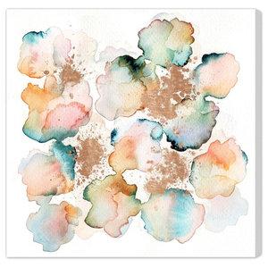 """""""Rose Gold Garden"""" Canvas Art Print, 61x61 cm"""