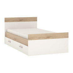 Single Bed With Under Drawer, Lilac Handles