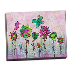 Groovy Blooms Floral Canvas Art