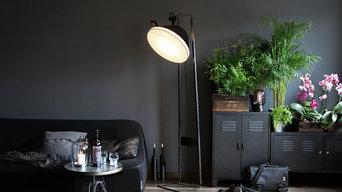 Edition Limité chêne brulé / Projecteur de sol