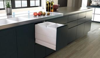 Designer Series Soft Close Bin - 350mm Cabinet - 2x15L - White