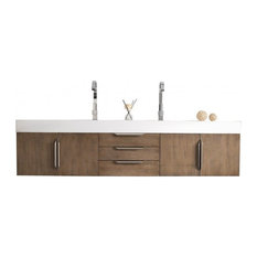 "Mercer Island 72"" Latte Oak Double Vanity"
