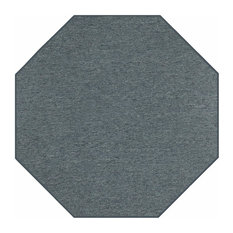 Outdoor Carpet, Petrol Blue, 3' Octagon
