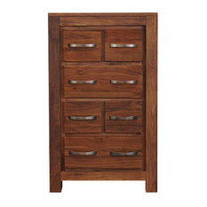 Mayan Solid Walnut DVD and CD Storage Chest of Drawers