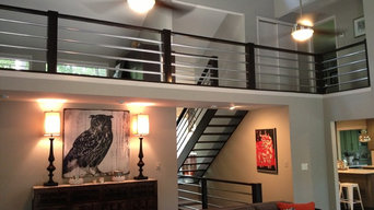 Modern Railing and Stairs in Johns Creek