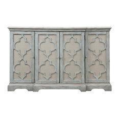 Uttermost Sophie 4 Door Gray Cabinet