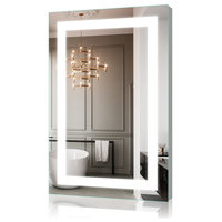 "24""x36"" LED Backlit Mirror Illuminated Bathroom Mirror With Dimmable Switch"