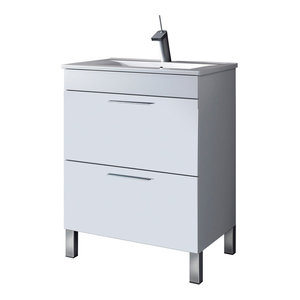 Dekor 60 Bathroom Vanity Unit, 60x45 cm, White Gloss