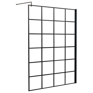 Crittall Inspired Square Shower Screen, 800mm