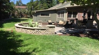 Brick paver patio & fire pit