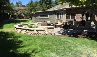 Brick paver patio & fire pit