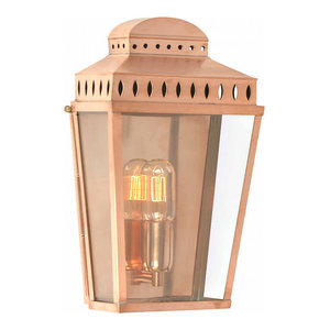 Polished Copper Wall Lantern Copper - 1 x 100W E27