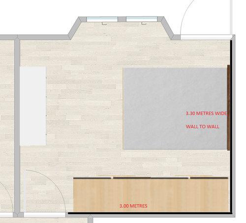 Main bedroom wardrobe - Too imposing?