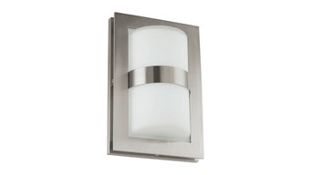 Eglo Lighting Archa Single Light Outdoor Stainless Steel Wall Fitting In Satin N