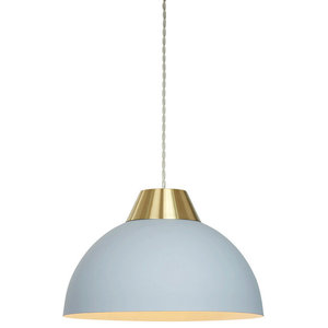 Jasper Easy-Fit Pendant Shade, Light Blue and Gold