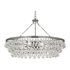 Bling Chandelier Large, Polished Nickel Finish