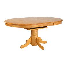 Sunset Trading Oak Pedestal Butterfly Leaf Dining Table DLU-TBX4266-LO