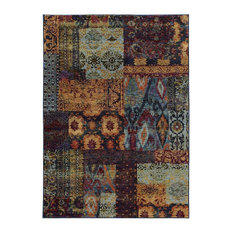 "Oriental Weavers Andorra Multi Blue Area Rug, 7137A, 8'6""x11'7"""