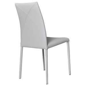 Vega Contemporary Leather Chair, Beige