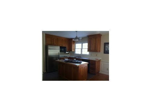 How To Update Raised Panel Knotty Pine Kitchen Cabs