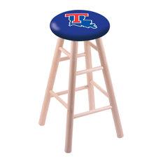 Maple Counter Stool Natural Finish With Louisiana Tech Seat 24-inch