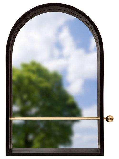 Geometri Spegel, Svart - Vægspejle