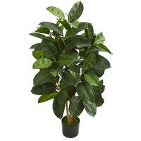 4'Oak Ficus Artificial Tree, Green