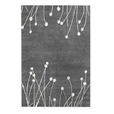 Hand-Tufted Contemporary Desire Rug, Gray, 6'x9'
