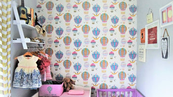Personalised hot air balloon wallpaper