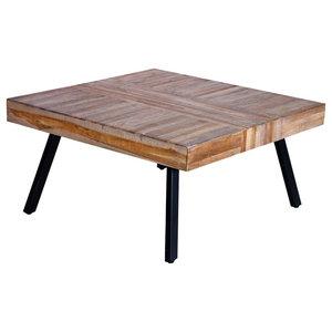 VidaXL Coffee Table Square Reclaimed Teak