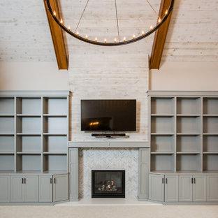 Home design - transitional home design idea in Detroit