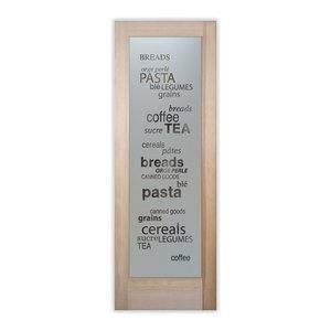Pantry Door - Pantry Goods Etched Glass Door, 24x80x1.38