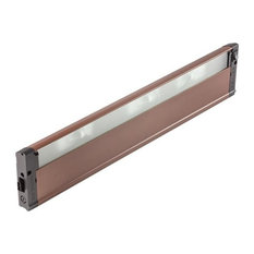 "4U Series 12V 22"" 3-Light Under Cabinet, Bronze Textured, Frosted Glass"