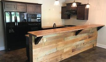 Custom Reclaimed Barn Wood Bar Poplar