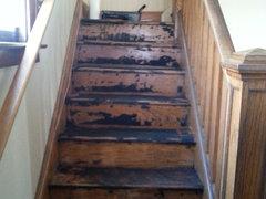 removed asbestos floor tiles