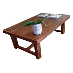 Doorman Designs - Large Rustic Pi Coffee Table Made From Reclaimed New Orleans Barge Board - Coffee Tables