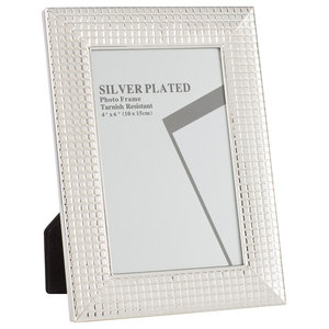 Silver Plated Picture Frames, Silver Mosaic Tiles, 10x15 cm