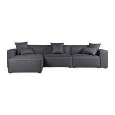 Kardiel Modus Modern Modular 3-Piece Sofa Sectional, Griffin, Left Facing