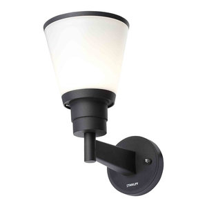 Stanley Begna Outdoor LED Wall Light, Black