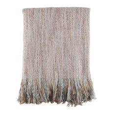 "FauxMohair Shabby Chic Throw Blanket, 50""x60"", Gray"
