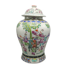 Famille Vert Chinese Jar With Button Lid