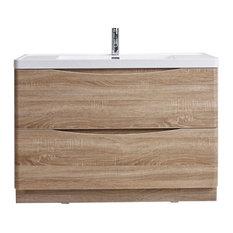 "Eviva Smile 48"" White Oak Bathroom Vanity With Sink"