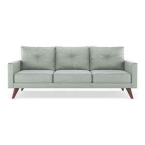 Powell Sofa Mod Velvet, Silver Gray