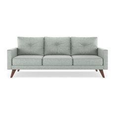 Powell Sofa Mod Velvet Silver Gray