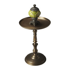 butler butler metalworks bronze pedstal accent table side tables and end tables