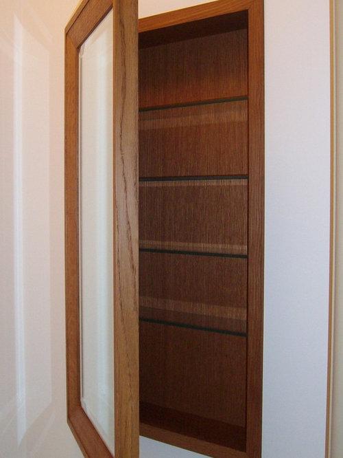 Oak Medicine Cabinet - ミラー キャビネット